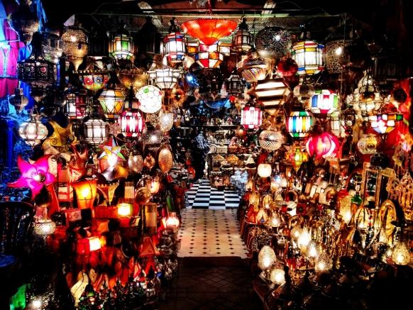 Lantern Shop In Southern Morocco